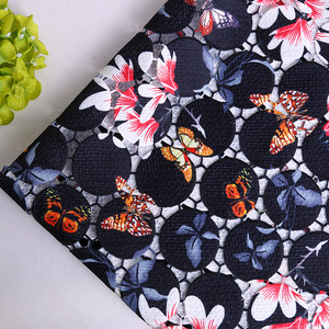 wholesale high quality lady water soluble printing lace fabric