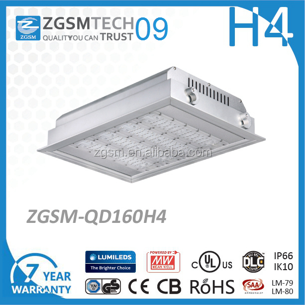 gas station Recessed canopy lightin 150W LED light FOR GAS STATION with 7 Years warranty