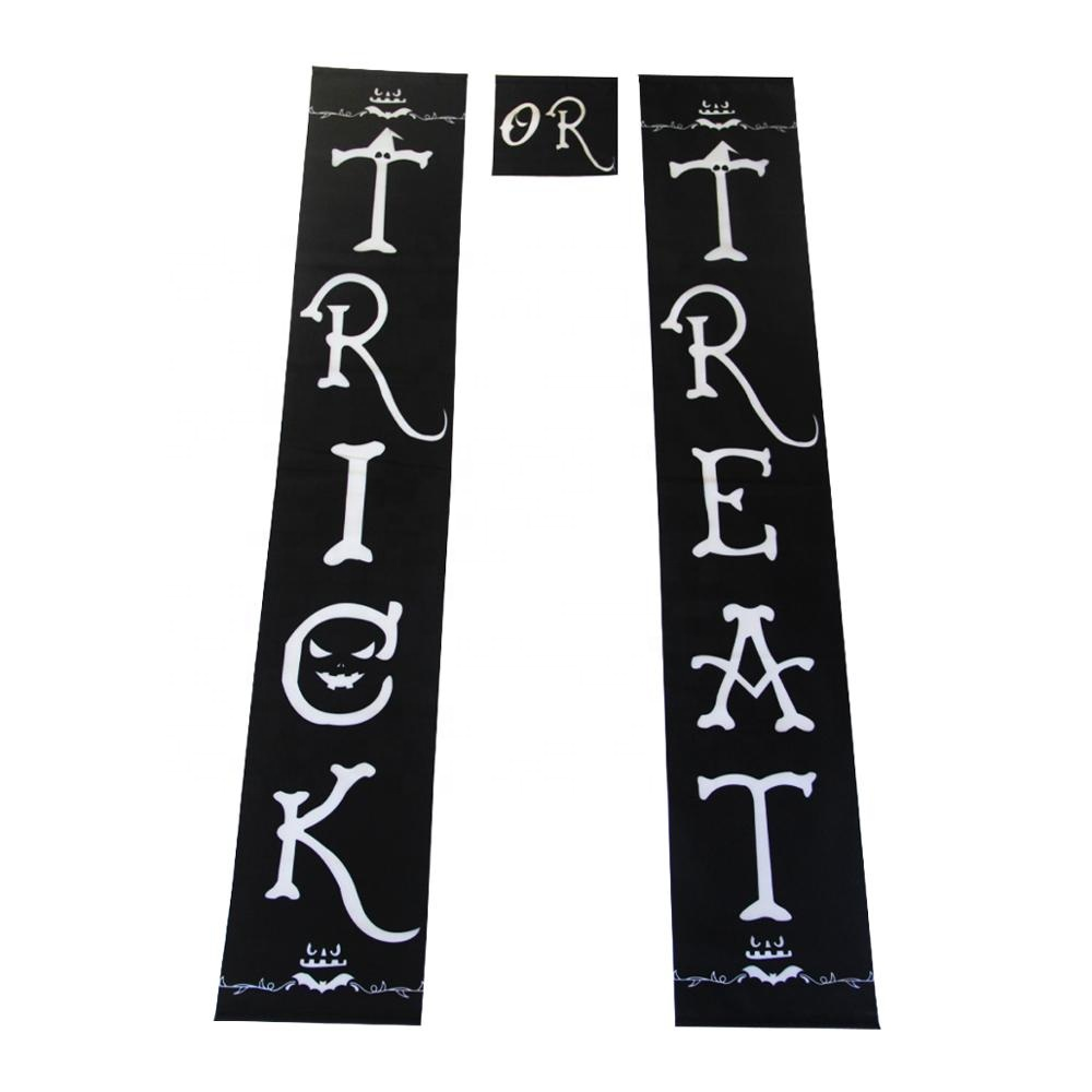 Trick or Treat Decorations Halloween Banner Flag or Office Decor Ready To Hang