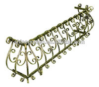 antique classical iron balcony window grill design