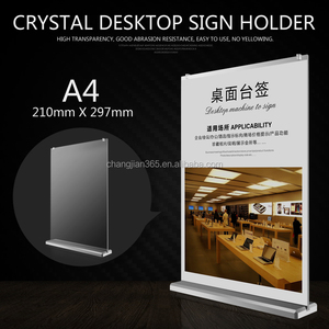 A3 A4 A5 acrylic paper plastic menu display stand holder