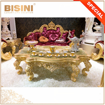 Antique Gold Finish Royal Furniture Sofa Set, Luxury Gilding Latest  Exclusive Sofa Set For Grand