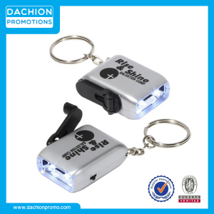 Customized Mini Dynamo LED Flashlight Keychain
