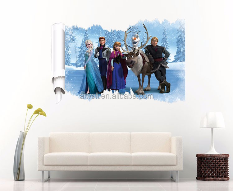 Etonnant 6001 3D Frozen Wall Sticker Ice Snow Decals Carton Figure Murals Wall Art