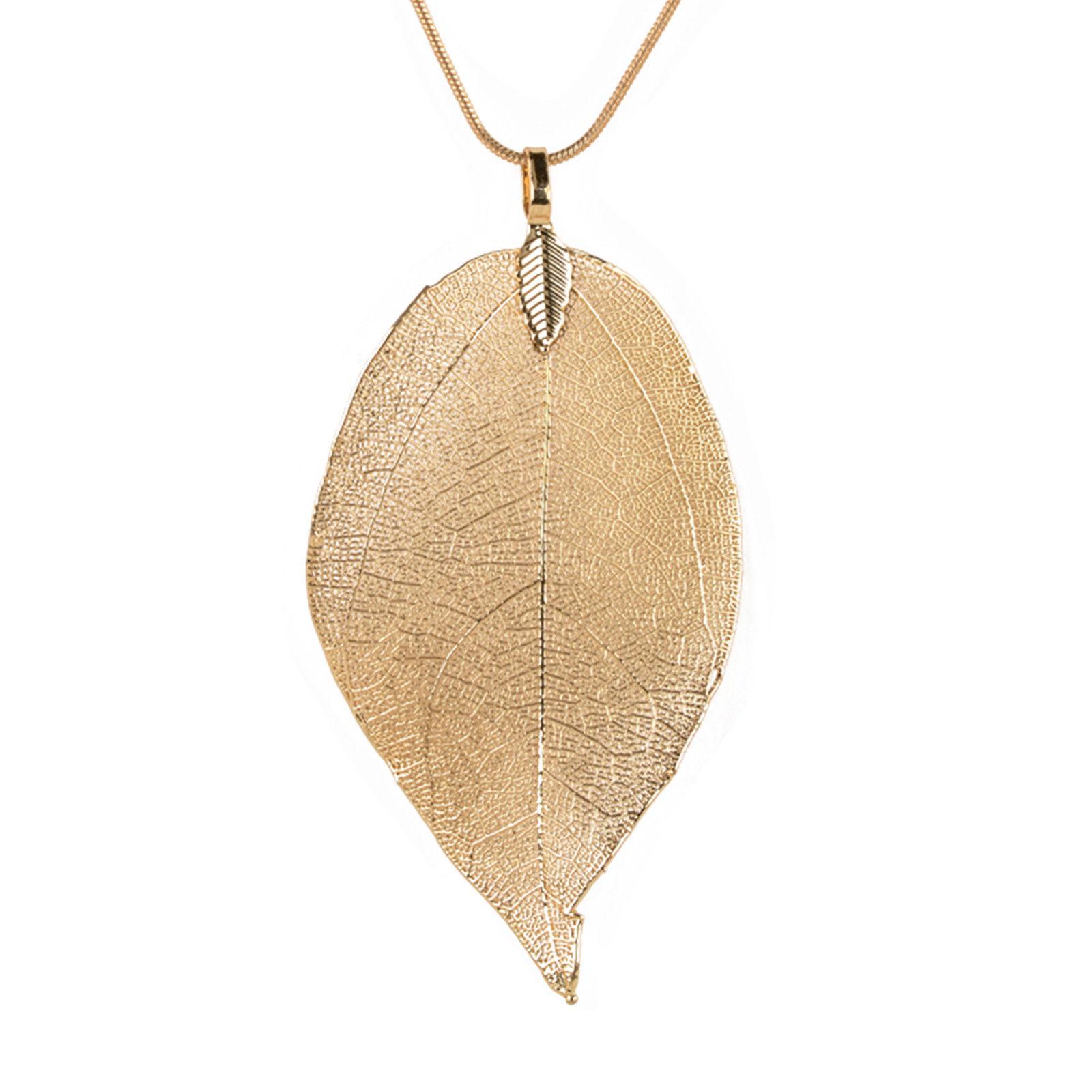 Rinhoo Fashion Women Custom Leaf Pendant Necklace for women