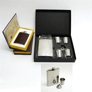 Multiple Colour Fashion Wholesale Gift Items Stainless Steel Hip Flask Set