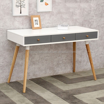 New Design Eco Friendly 3 Drawers Console Table Danish Style Furniture