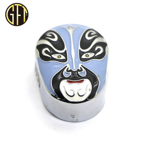 New product custom Drama mask shape enamel metal car perfume holder for gifts