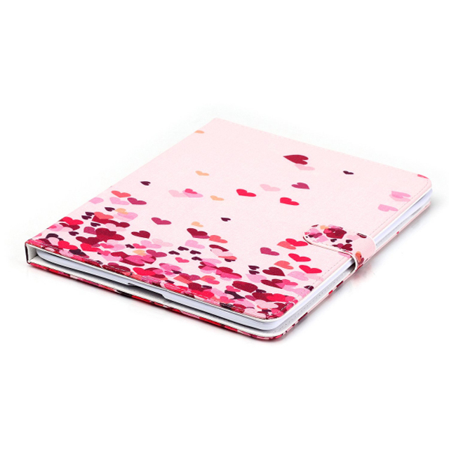 Lifelike Painting smart cover for iPad 4,wallet stand holder PU leather case for iPad 3