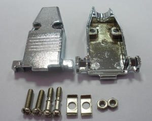 9 p, solder type, d sub connector and metal shells