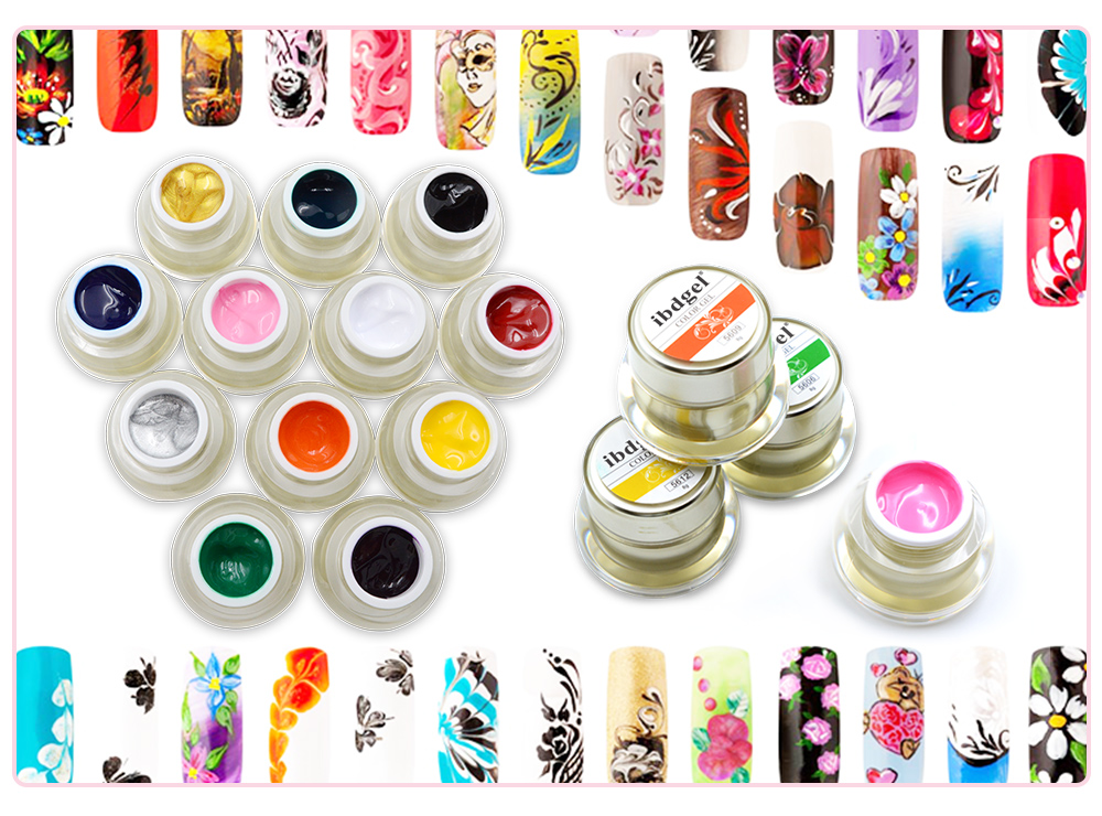 L&M ibdgel brand wholesale uv gel polish soak off painting 3d nail art gel varnish