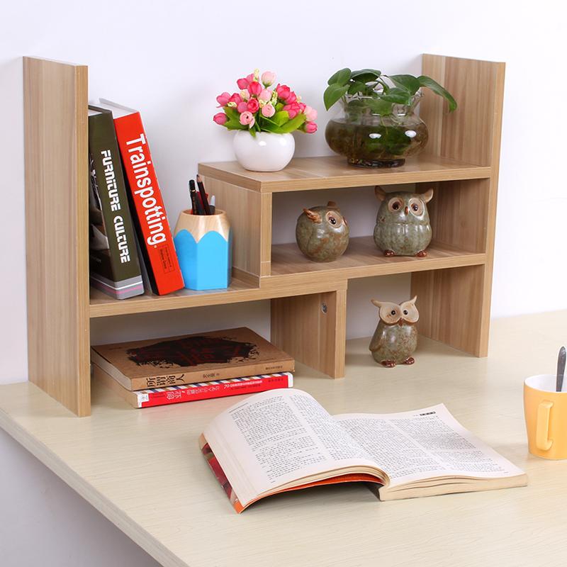 Desktop Bookshelves: EC FURNITURE Creative Retractable Shelf Bookcase Bookcase