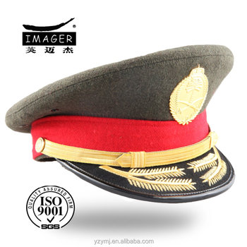 customized military use army peaked cap