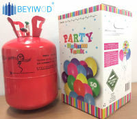empty 13.4L 22.4L small disposable helium gas cylinder balloon helium cylinder