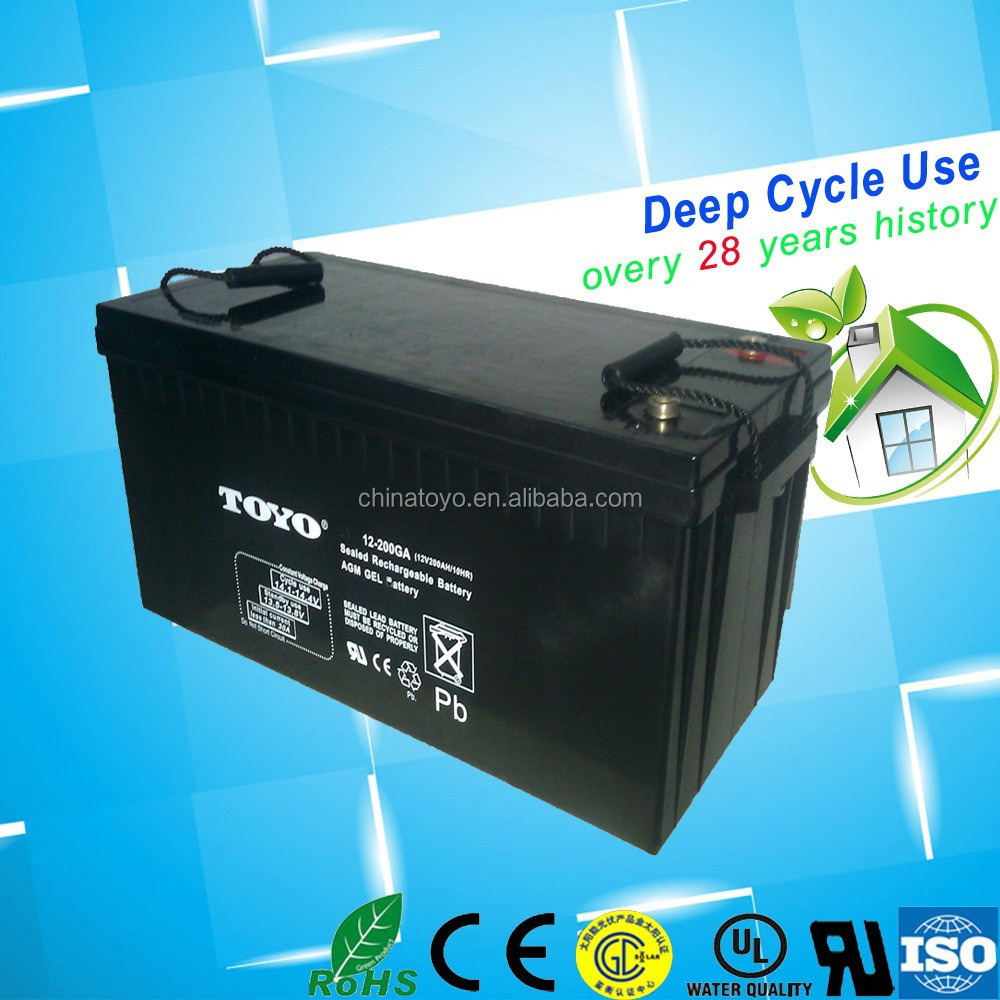 ( 12v ) 48v system deep cycle rechargeablec lead acid 200ah battery china manufacturer