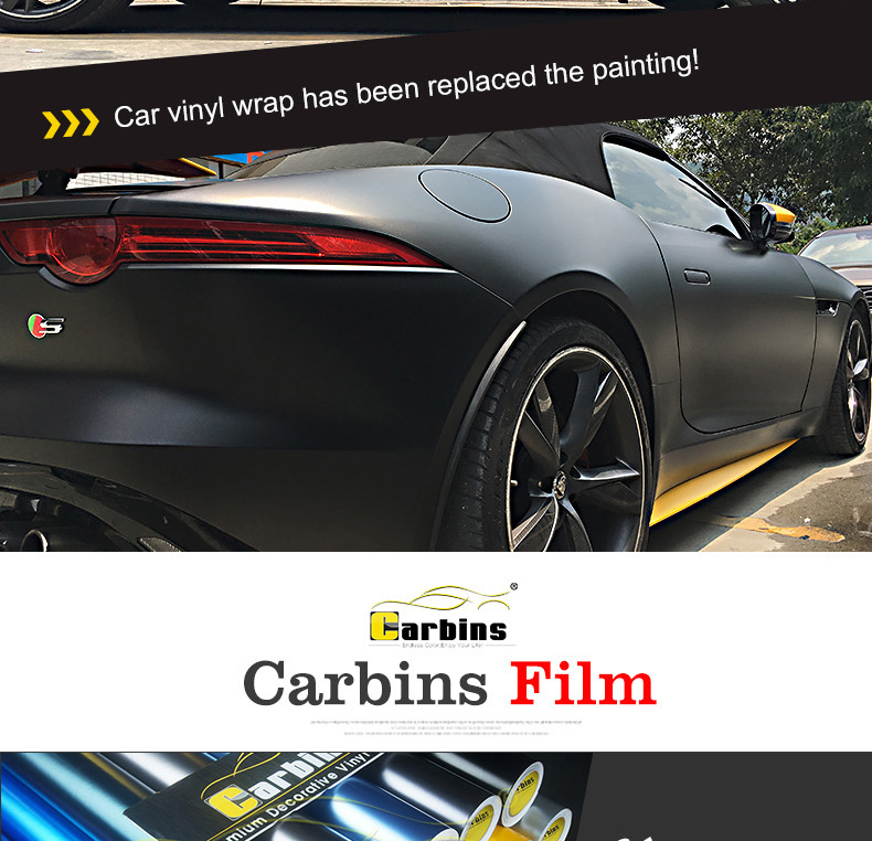 CARBINS Car Color Changing Film PVC Wraps Wholesale Price Factory in Guangzhou
