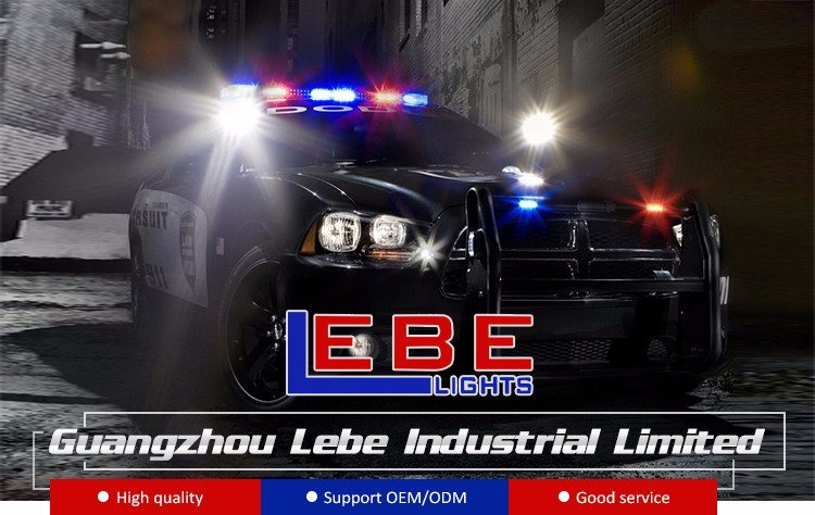 12 V/24 V Merah Biru Mobil LED Peringatan Flashing Beacon Lampu Strobo