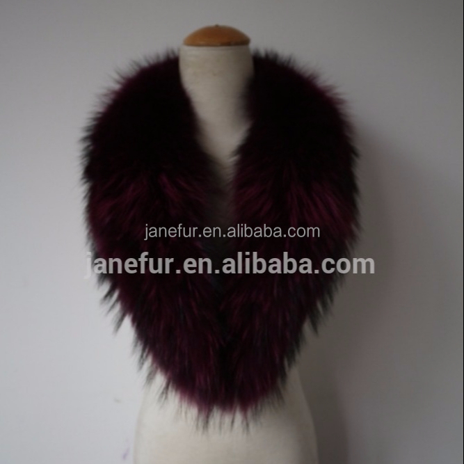 New Design Natural Detachable Raccoon Fur Collar /Scarf