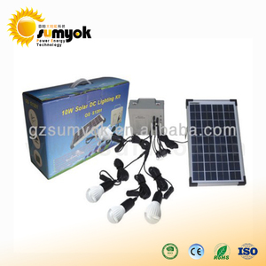 China hot sale solar renewable energy products 10W 12V solar lighting kit home system