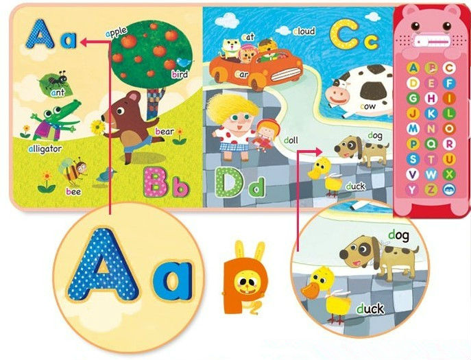 Customized children music audio story books with rich and fun contents