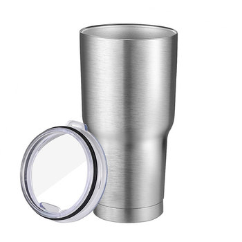 Stainless Steel Sliver Insulated Tumbler Travel Mug Water Bottle metal cup holder coffee milk holder