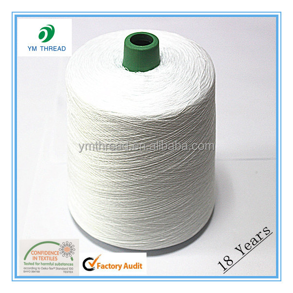 Raw White 10s/4 Bag Closer Thread for Sewing