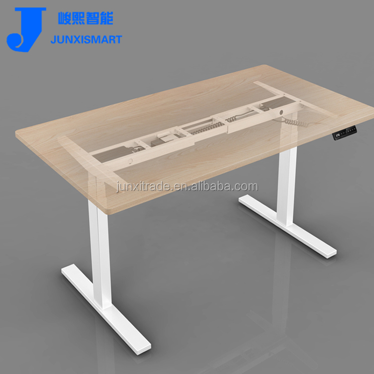 Painted spray steel legs electric height adjustable desk frame sit standing table for office