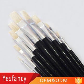 Wholesale Hog Bristle Long Handle Artist Oil Painting Brushes Best Paint Brush Brands Buy Best Paint Brush Brands Painting Brushes Best Paint Brush