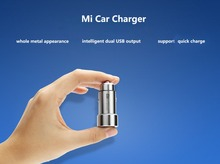 Free shipping 100% Original Xiaomi MI Car Charger  Metal Appearance Dual USB Output Quick Charge For Tablets And Mobile Phones