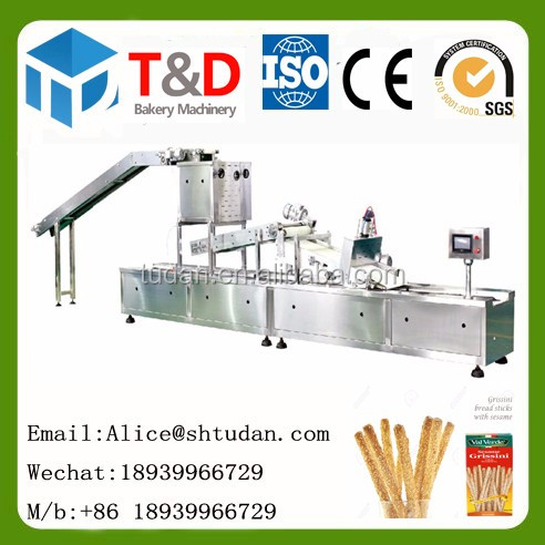 Équipements de boulangerie industrielle Chine usine fournisseur gressins faisant la machine de sésame ensemble complet grissini machine boulangerie industrielle