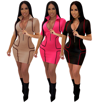 short sleeve  club dresses 2019 women club dress party