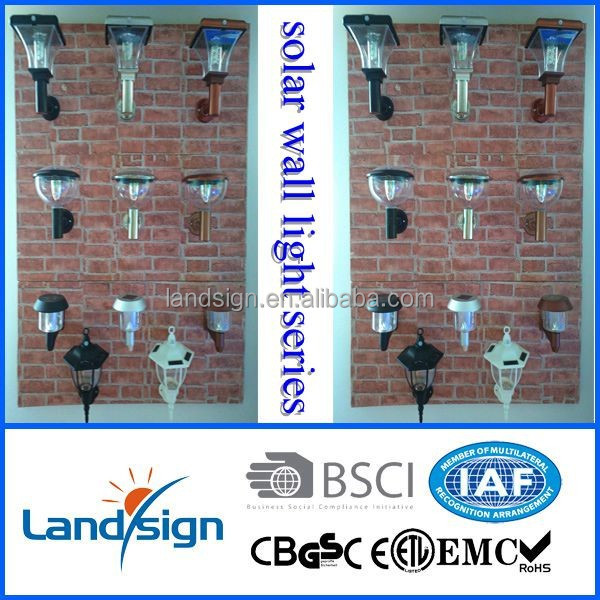 NEW ARRIVAL copper finish stainless steel solar led outdoor wall light with PIR SENSOR