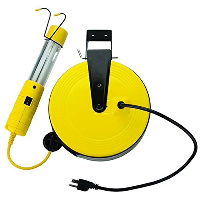 Buy cheap china cord reel work light products find china cord reel heavy duty retractable metal reel 13 watt fluorescent work light with spotlight on 50 publicscrutiny Gallery