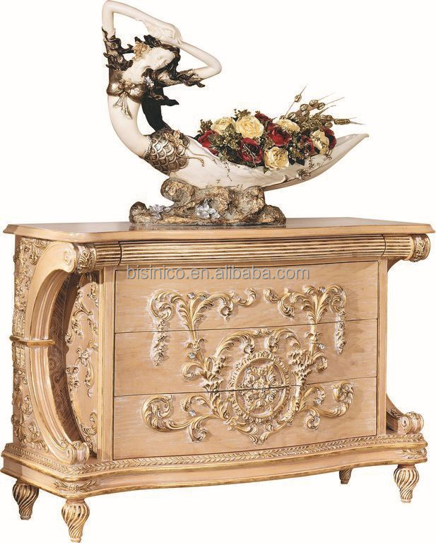 Bisini luxury french baroque living room console table for Antique baroque furniture
