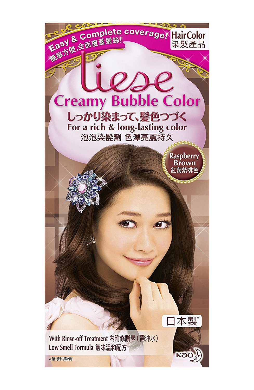 Buy Kao Japan Liese Prettia Bubble Hair Color Dying Kit Raspberry