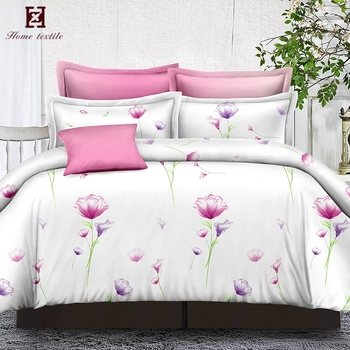 Making Bulk Bed Sheets Polyester Spandex Blend Fabric King Size Romantic Bed  Sheet