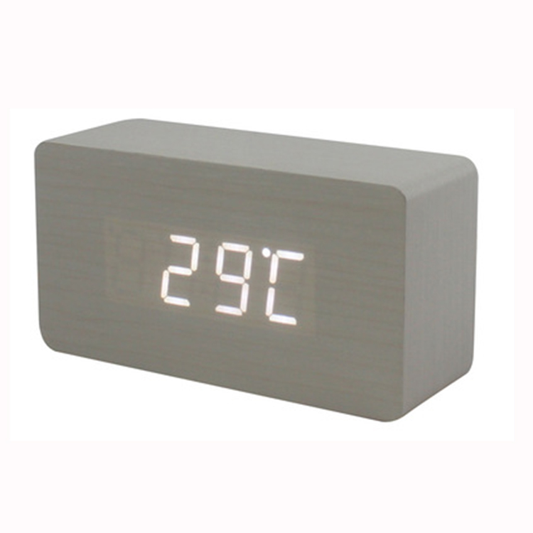 Zogifts new popular smart marble digital wooden alarm clock for household and office