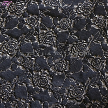 100% polyester 3D rose floral jacquard fabric damask fabric for dresses, garments