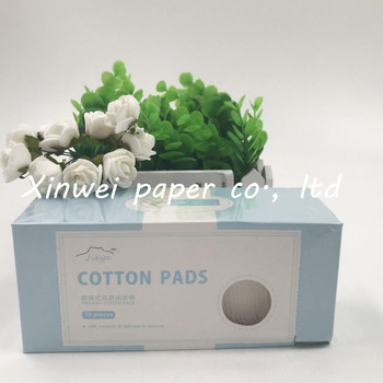 Excellent quality Soft and gentle viscose cotton pads for female