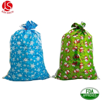 Jumbo Plastic Kerstman En Sneeuwpop Kerst Vakantie Gift Bag