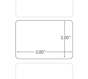 3''x2'' Chemical Resistant Polyester heat transfer Labels, 1.2K/roll, 1'' Core