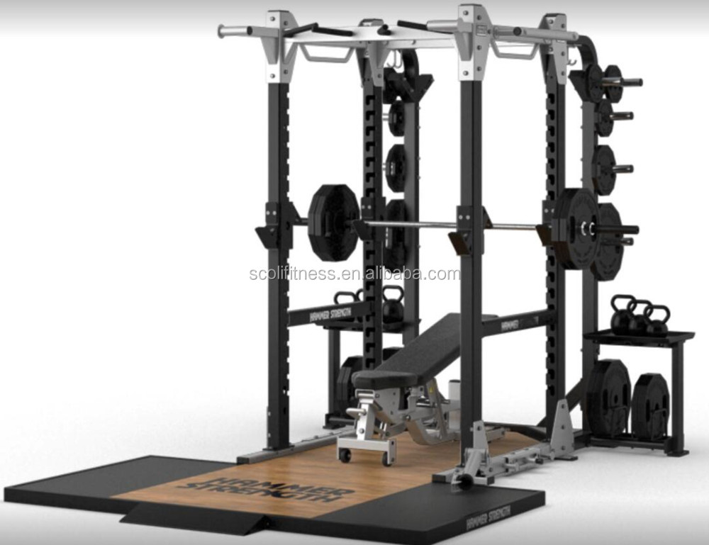 Hammer Strength Hd Elite Power Rack Commercial Gym Fitness