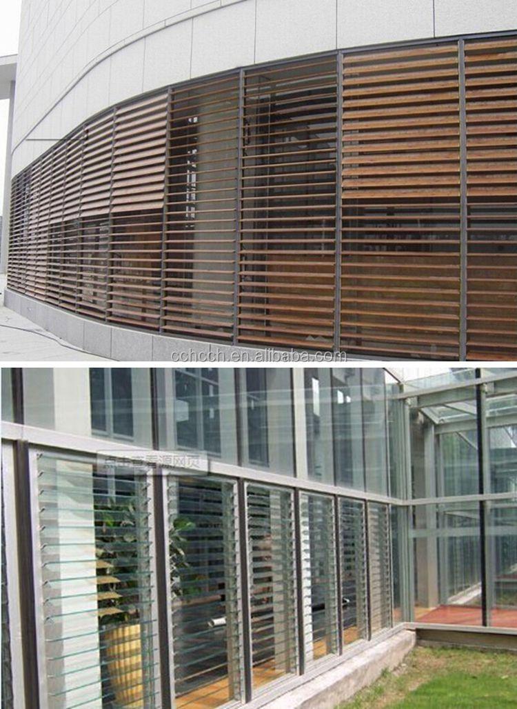 Modern Wood Aluminum Pvc Jalousie Window Louver Window