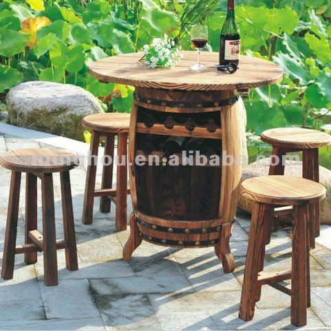 Salon de jardin tonneau de vin de table-Tables antiques-ID de ...