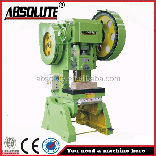 ABSOLUTE brand electronical circle hole stamping press machine car number plate making machine