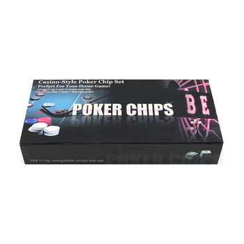 Home Family Fun Gambling Games Portable Casino Style Poker Chips Set