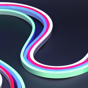 12v 8mm ultra-thin custom rgb rainbow flexible tube led neon rope light