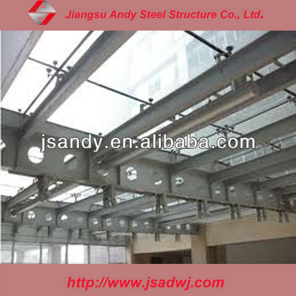 space frame roof of steel structure shed
