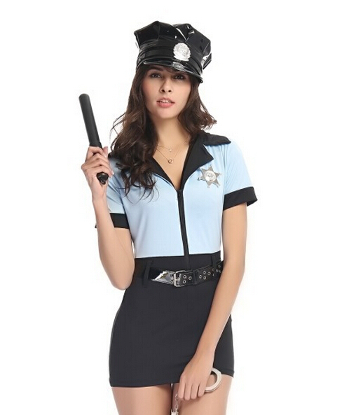 Get Quotations · Police Party Costume Sexy Female Police Uniform Police  Style Sexy Cosplay Sexy ladies police cosplay costume f7cc341f2cb2