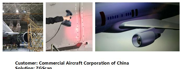 Hoge precisie draagbare draadloze blauwe laser 3d scanner